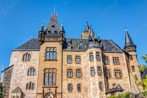 Deurstickers Brugge Schloss Wernigerode im Harz, Sachsen-Anhalt