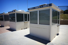 Row Of Closed Ticket Booths
