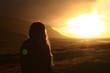 Summer midnight sunset in Iceland