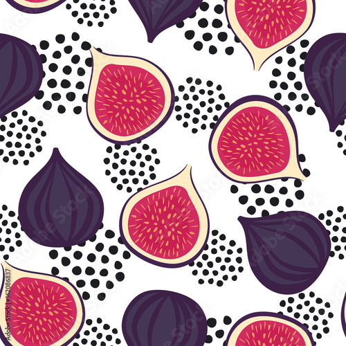 seamless-figs-pattern-with-decorative-dots-on-white-background-summer-fruit-vector-illustration-design-for-wallpaper-fabric-decor-textile