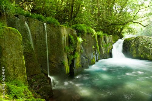 Fotobehang Watervallen 菊池渓谷