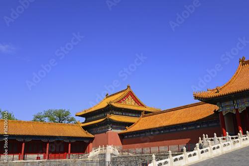 In de dag Beijing The building in the Forbidden City is in Beijing, China