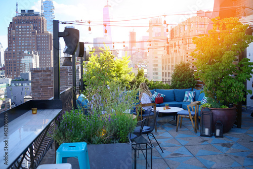 Tuinposter New York City New York City rooftop
