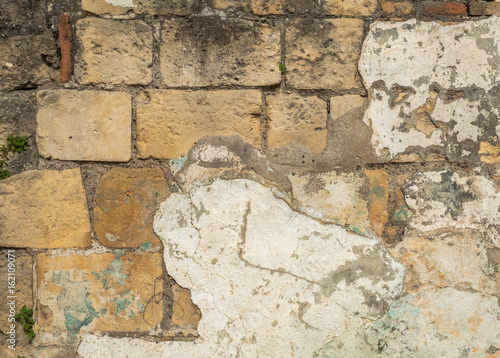Wall Murals Old dirty textured wall Historic stone wall, old stone wall