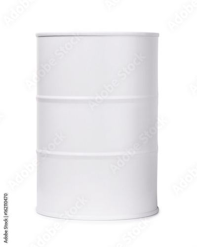 White barrel of fuel or chemicals Fototapete