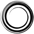 Abstract geometric art with circular motif. Geometric black and white illustration