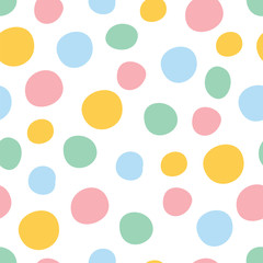 FototapetaColorful polka dot seamless pattern