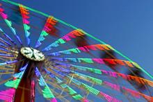 Ferris Wheel In Motion, Multi Colored Lights
