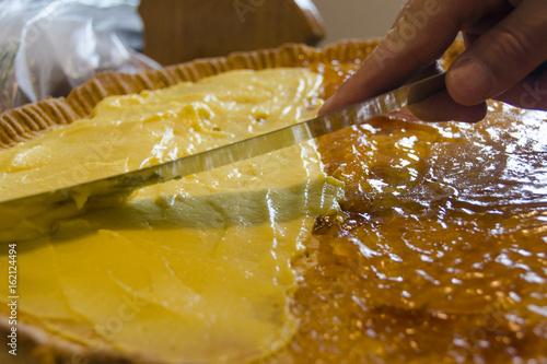 Fotografía  Preparación de tarta casera