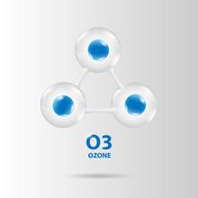 Ozone Molecule Model Vector