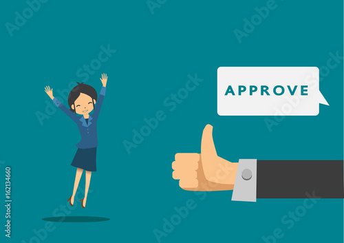 the illustrator of businesswoman jobs approved - Buy this stock