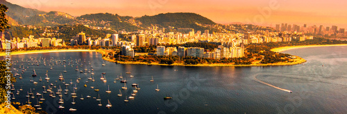 Canvas Prints Orange Guanabara Bay Brazil