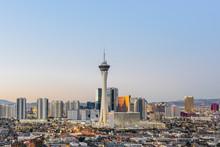 Las Vegas Skyline At Sunrise.