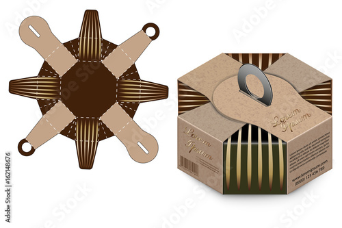 gift box packaging template box design container die stamping
