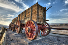 Old Mule Wagon Train In Death Valley
