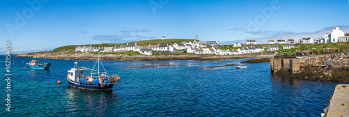 Panorama of Portnahaven, Isle of Islay, Scotland Canvas Print