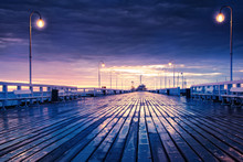 Sopot Jetty At Night. Pomerani...