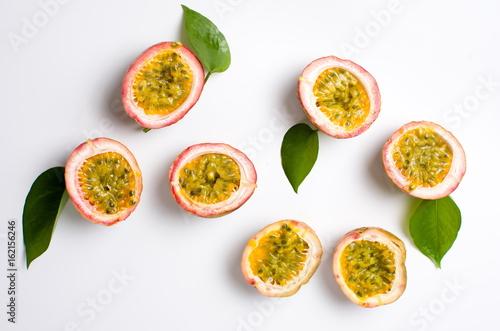 Fotografie, Obraz  Passion fruit isolated on white background