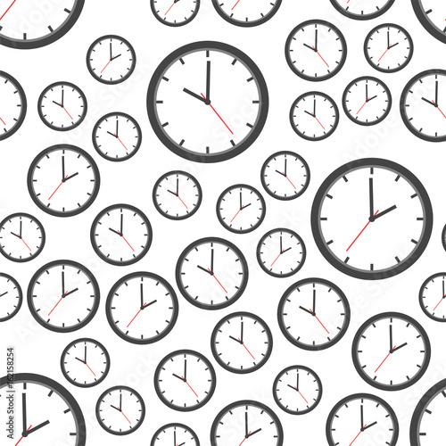 ikona-tlo-wzor-zegar-ilustracja-wektorowa