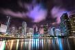 canvas print picture - Miami City Skyline