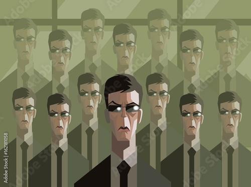 men in suit clones Fototapete