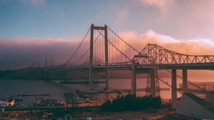 Fototapeta na wymiar Carquinez Bridge at Dusk