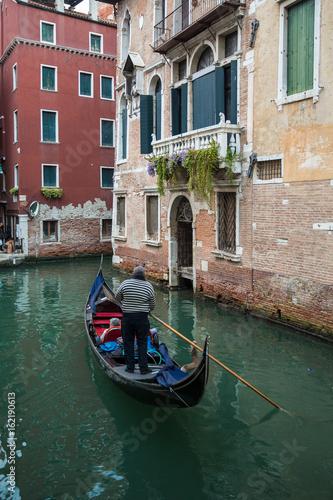 Türaufkleber Gondeln Classic Gondola ride in Venice
