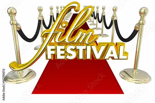Fotografie, Obraz  Film Festival Red Carpet Movie Premiere VIP Guest 3d Illustration