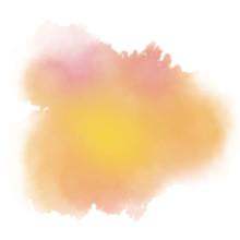 Golden Orange Watercolor