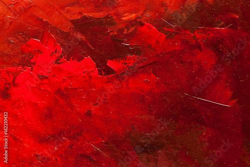 fototapeta na lodówkę abstract oil paint texture on canvas, background