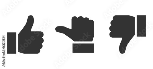 Black valuation thumbs - stock vector Tapéta, Fotótapéta
