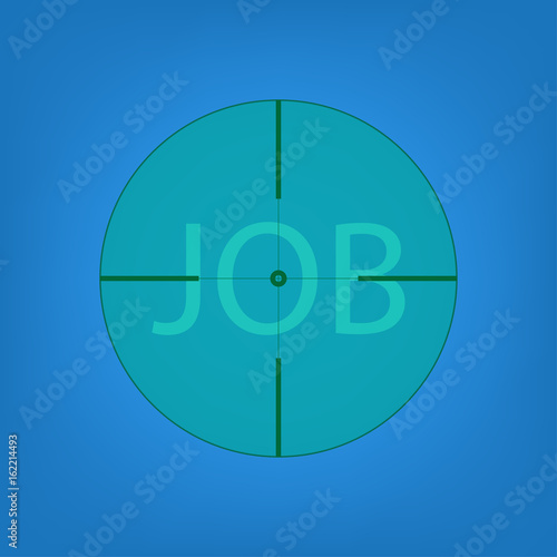 Job Hunting view from telescope Canvas Print