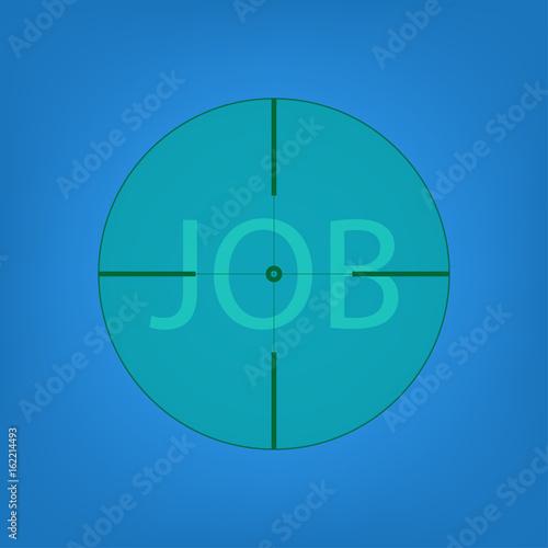 Job Hunting view from telescope Plakát