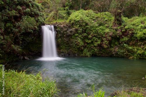 Photo Puaa Kaa Falls (Pua'a Ka'a Falls) on the Hawaiian island of Maui at Mile 22 alon