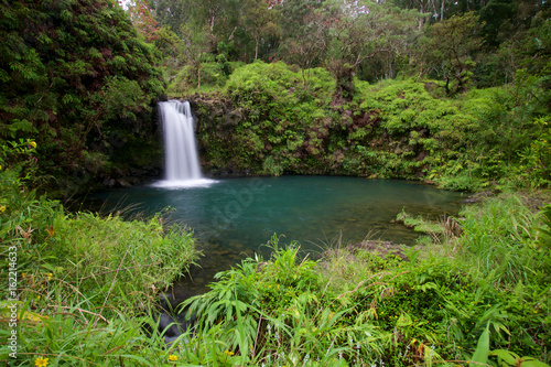 Puaa Kaa Falls (Pua'a Ka'a Falls) on the Hawaiian island of Maui at Mile 22 alon Canvas Print