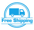 Free Shipping Blue Circular Badge Style
