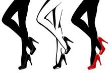 Beautiful Female Legs Wearing ...