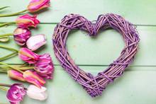 Violet Decorative Heart And Pi...