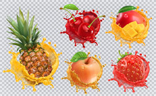 Pineapple, Strawberry, Apple, ...