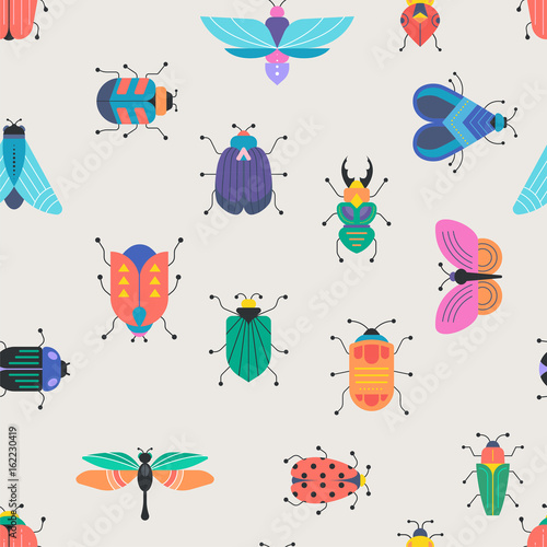 Bugs, insects, Butterfly, ladybug, beetle, swallowtail, dragonfly collection Tableau sur Toile