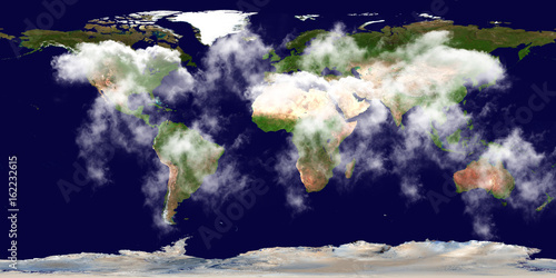 High resolution earth continents clouds flat world map from space high resolution earth continents clouds flat world map from space elements of this image furnished gumiabroncs Choice Image