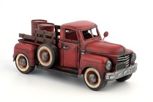 Metal Model Of An Old Truck Wi...