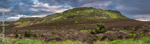 Foto op Aluminium Heuvel Simonside and Old Stell Crag Panorama / The Simonside Hills are popular for hiking. Simonside is the summit of these hills seen here with Old Stell Crag to the left