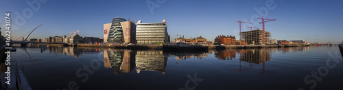 Photo  Dublin Docklands, view on Nort Wall Quay, Dublin Conference Centre, Samuel Becke