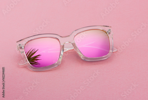 Creative shoot for cool and stylish sunglasses with different lighting and cool props