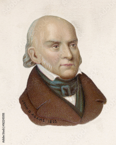 John Quincy Adams. Date: 1767-1848 Wallpaper Mural