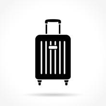 Suitcase Icon On White Background