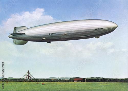 Photo  Zeppelin LZ 130 - Postcard. Date: 1938