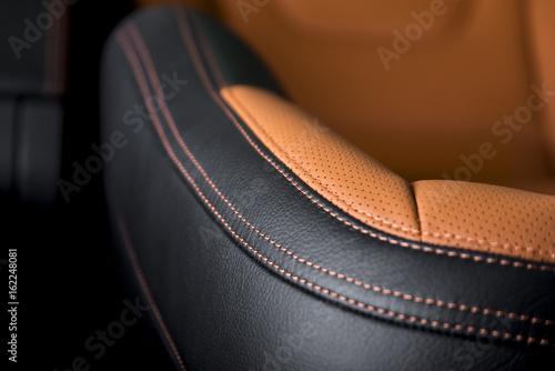 Fotografiet  Part of  leather car seat details