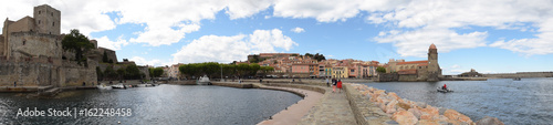 Panoramique : Collioure, pyrénées orientales, roussillon, occitanie, France